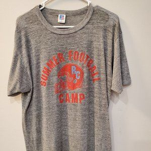 Russell Athletic VTG Summer Football Camp Shirt L